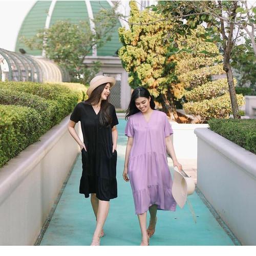 Foto Produk DRESS BYEOL - Wanita Cantik Polos Lilac Murah Import Korean Style - Ungu dari Loyure Store