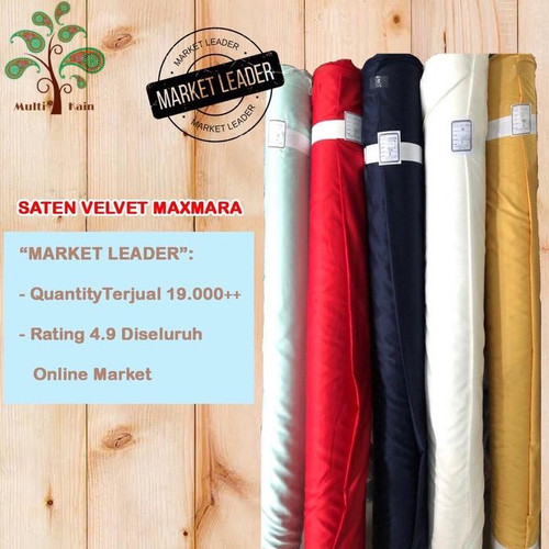 Foto Produk Bahan Multi Kain Satin saten Velvet Lux Polos Meteran soft dan tebal - 3601 hitam dari multi kain