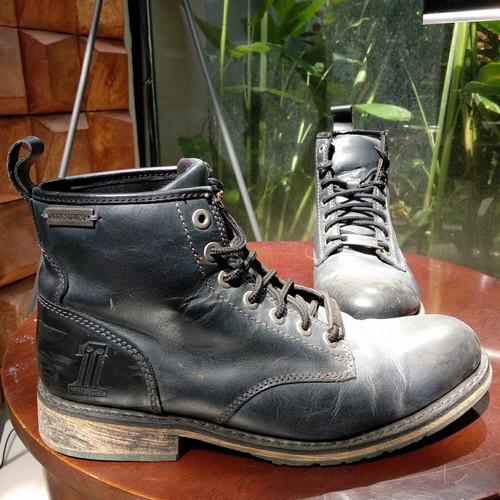 Foto Produk Sepat Boots Kulit Harley Davidson Hitam Original Ukuran 10.5 dari The Pain Hunters