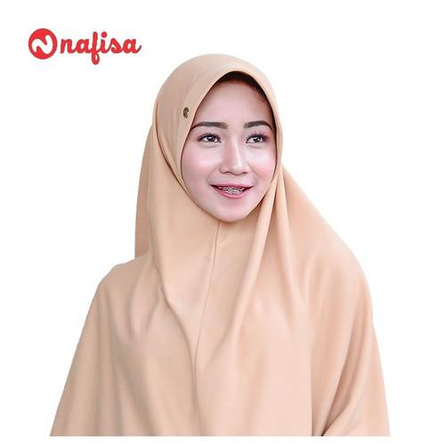 Foto Produk Nafisa Asha Size M  Hijab Bergo Kaos   Khimar Pad Antem - Coksu dari Nafisa