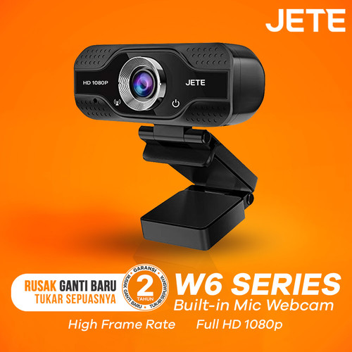 Foto Produk Webcam Jete W6 Full HD 1080px Widescreen View dari JETE Official Surabaya