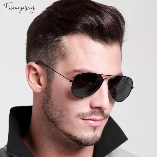 Foto Produk Kacamata Hitam Keren Fashion Aviator Sunglasses - Black dari Friana Gallery