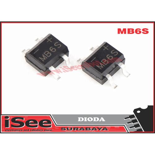 Foto Produk MB6S DIODA 600V 0.5A SOP-4 SMD rectifier diode bridge mb6s dari iSee