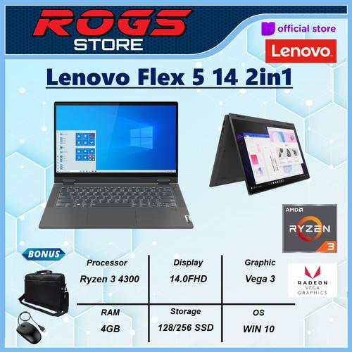 Foto Produk Lenovo Flex 5 14 2in1 Touch Ryzen 3 4300 4GB 128ssd W10 14.0FHD - 128gb dari ROGS STORE