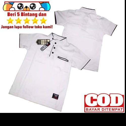 Foto Produk Baju Koko Anak Muslim Lengan Pendek PUTIH POLOS untuk usia 1-8 tahun - Putih, 2 dari kaosBikers89