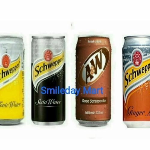 Foto Produk Schweppes Tonic Water   Soda Water   Aw Rootbeer   Ginger Ale 330ml - Tonic Water dari Smileday Mart