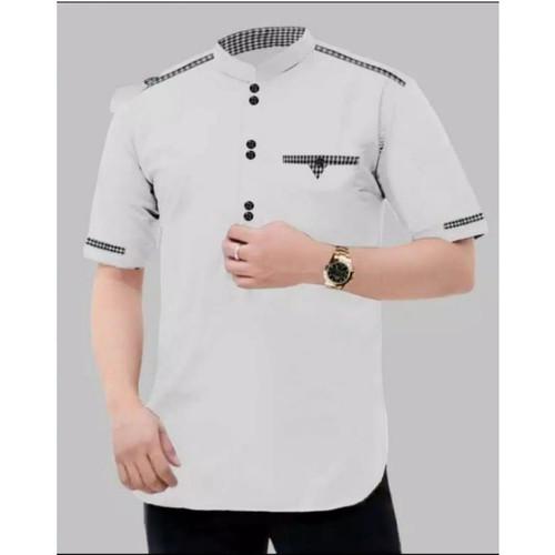 Foto Produk Koko Tojiro, Baju Koko Pria Muslim Terbaru - Putih, L dari Mamayoo