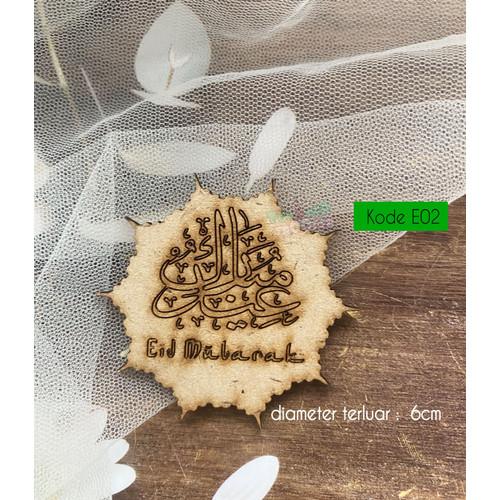 Foto Produk Mini Topper Kue Eid Mubarak - Idul Fitri | /Hiasan kue/Hampers - Natural, E02 dari toppertrooper