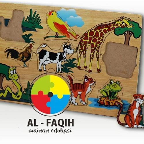Foto Produk Alat Permainan Edukatif/ Mainan Edukasi/ Mainan Puzzle Kayu Hewan dari Mainanalfaqih