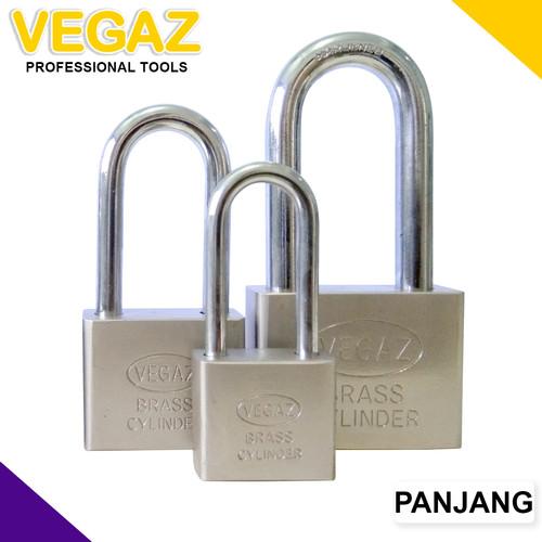 Foto Produk VEGAZ - Gembok Silinder Kuningan Panjang dari Vegaz-Tools