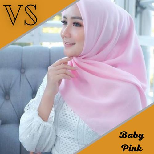 Foto Produk Kerudung Segiempat Polos BELLA SQUARE Hijab Pollycotton Harga Spesial - Baby Pink dari Veergie Store