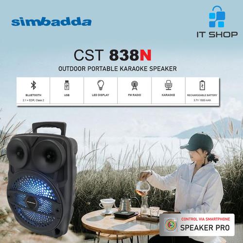 Foto Produk Simbadda Portable Karaoke Speaker CST 838N dari IT-SHOP-ONLINE