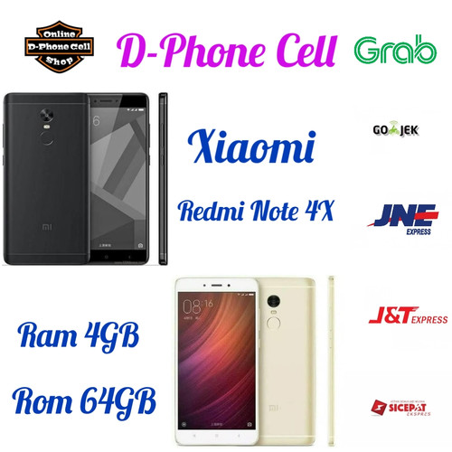 Foto Produk Xiaomi Redmi Note 4x 4/64 - RAM 4GB INTERNAL 64GB - Hitam dari D-phone cell
