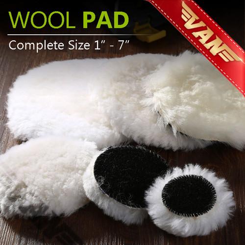 Foto Produk Wool Pad Velcro / Wool Finishing Polish / Busa Wool Poles Mobil - 1 inch dari VANAUTO