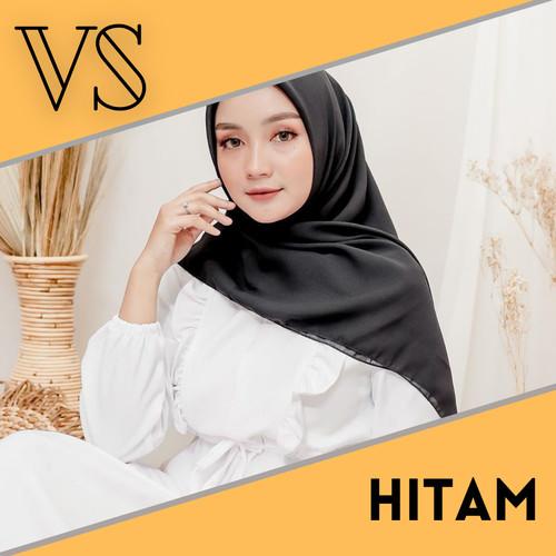 Foto Produk Hijab Polycotton Segiempat BELLA SQUARE Kualitas Terbaik - Hitam dari Veergie Store