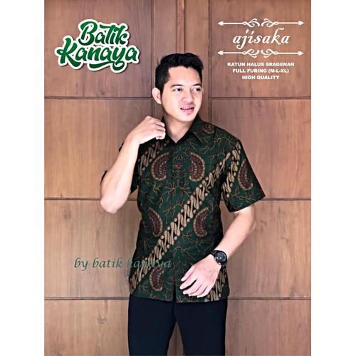 Foto Produk Ajisaka Kemeja Batik Pria Lengan Pendek Full Furing Batik Kanaya - M dari N.Y.L