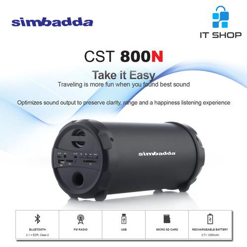 Foto Produk Simbadda Speaker Portable Music Player CST 800N - Hitam dari IT-SHOP-ONLINE