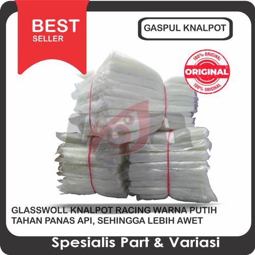 Foto Produk Putih Glaspul Glaspol Gaspul Gaspol Gasbul Gasbol GlassWoll Knalpot dari Ledeng Motor Bandung
