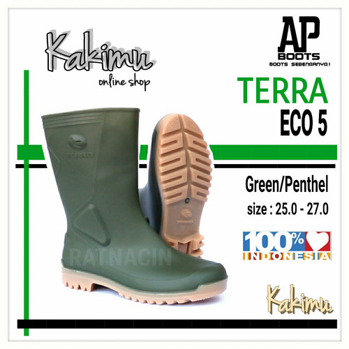 Foto Produk SEPATU BOOT MURAH AP BOOTS TERRA ECO 5 GREEN/PENTHEL dari kakimu_ols