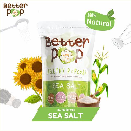 Foto Produk BetterPop Sea Salt Popcorn Single Pack dari BetterPop Popcorn