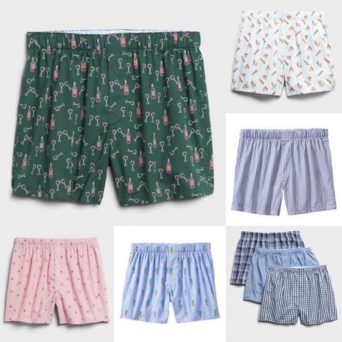 Foto Produk Boxer Pria isi 3 shorts in woven cotton Pabric (GAP) - S dari dezclothes_id