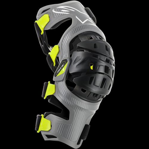 Foto Produk Alpinestars Bionic-7 Knee Brace Set - Silver Yellow Fluo L dari Thrill Bitz