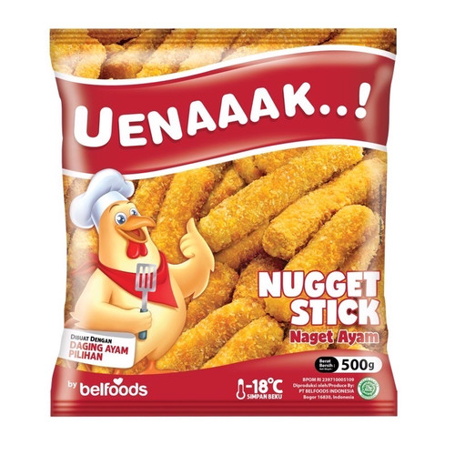 Foto Produk Belfoods Uenaaak Nugget Ayam Stick 500gr dari Kebab Mini Frozen Food