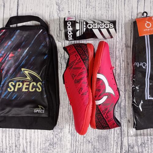 Foto Produk [ Terlaris] paket komplit 4 sepatu futsal Murah Berkualitas - O Merah, 39 dari Pusatgrosirsport
