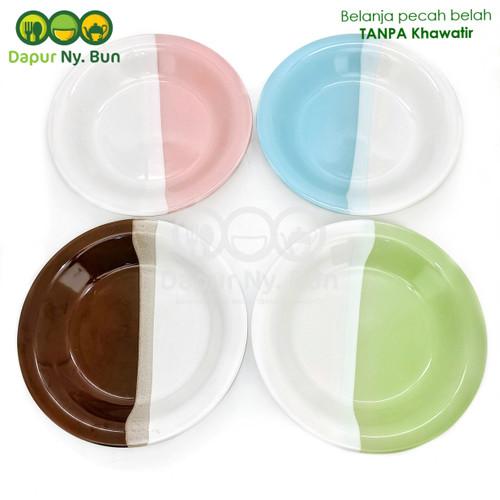 Foto Produk Piring Makan OMEGA Two Tone / 2 Warna Ukuran 9Inch dari Dapur Ny.Bun