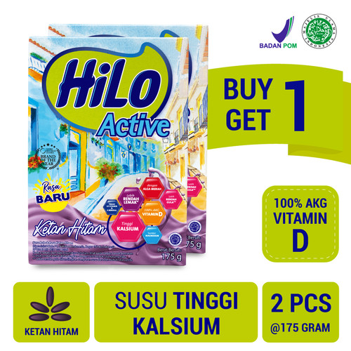 Foto Produk Buy 1 Get 1 FREE: HiLo Active Ketan Hitam 175gr dari NutriMart