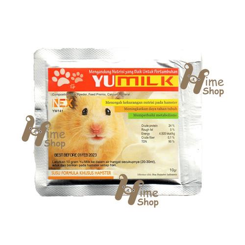 Foto Produk YU MILK Susu Bubuk Hamster Sachet 10gr Vitamin Sehat Snack - EXP 2023-02 dari Hime petshop