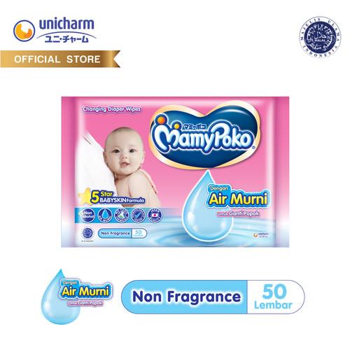 Foto Produk MamyPoko Wipes Tisu Basah Reguler 52 Non Perfume dari Unicharm Official Store