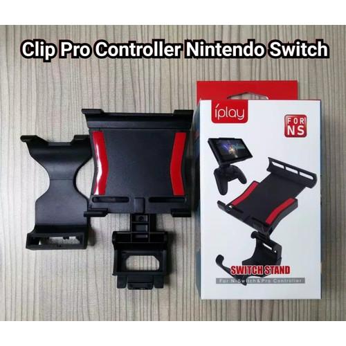 Foto Produk iPlay Nintendo Switch Pro Controller Handle Bracket Tablet CLIP CLAMP dari Waroengame