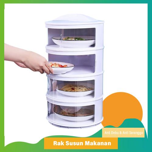 Foto Produk Meal Cover Rak Susun C50/C54 Penutup Makanan Tetap Hangat Cegah Lalat - 3 Tingkat dari Go_Go_Buy