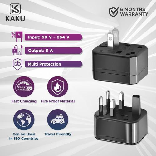 Foto Produk KAKU Universal ErgoLife Global Connect Conversion Plug Travel Adaptor dari KAKU Indonesia Official
