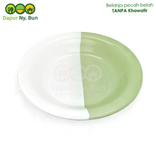 Foto Produk Piring Makan OMEGA Two Tone / 2 Warna Ukuran 9Inch - Hijau dari Dapur Ny.Bun