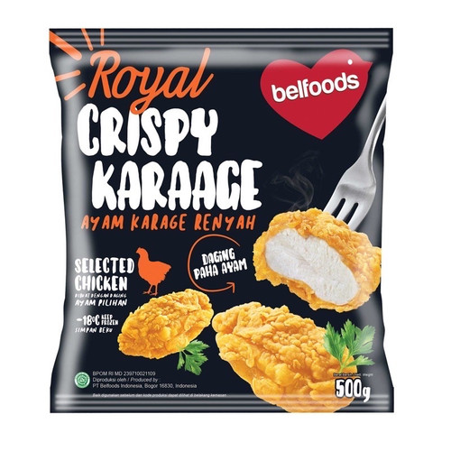 Foto Produk Crispy Karage Belfoods Royal 500gr dari Kebab Mini Frozen Food