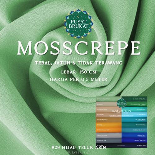 Foto Produk MOSSCREPE 1of2 - KAIN MOSS CREPE / MOSCHINO [harga per 0.5m] - 29 HIJAU TEL AS dari Pusat Brukat
