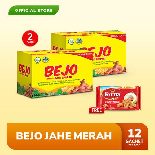 Foto Produk Bejo Jahe Merah Sachet 2 Pack (24 Sachet) FREE Roma Kelapa 300 gr dari Bintang Toedjoe Official