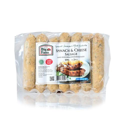 Foto Produk Big Farm Spinach and Cheese Sausage Sosis isi 7pcs 500g dari SESA Official
