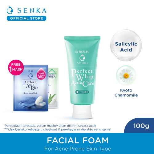 Foto Produk Senka Perfect Whip Acne Care 100 gr dari Senka Official Store
