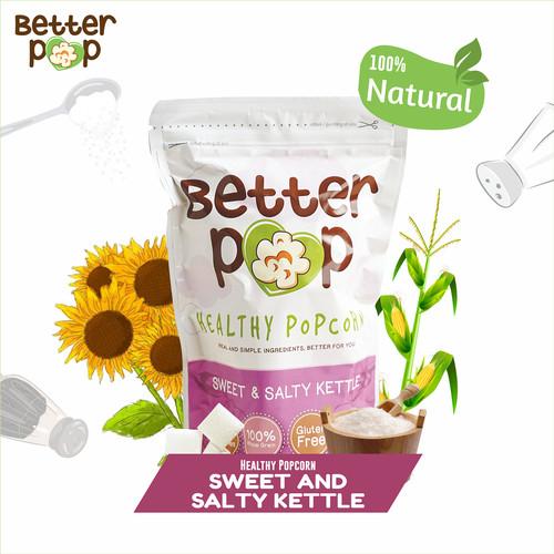 Foto Produk BetterPop Sweet & Salty Kettle Popcorn Single Pack dari BetterPop Popcorn
