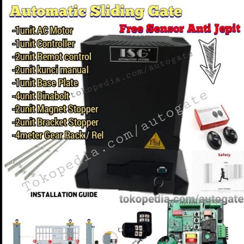 Foto Produk Automatic Sliding Gate 1000kg Mesin Pintu Gerbang Remot Otomatis - 1000kg Hitam dari SURYA KENCANA TEHNIK