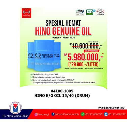 Foto Produk HINO E/G OIL 15/40 (DRUM) / 04100-1005 dari mayagrahaindahofficial