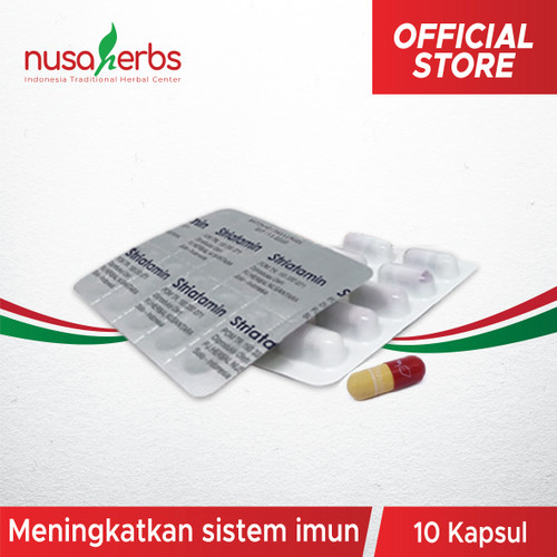 Foto Produk Suplemen Imun - Striatamin 1 Blister (Tinggi Protein & Albumin) dari Nusaherbs