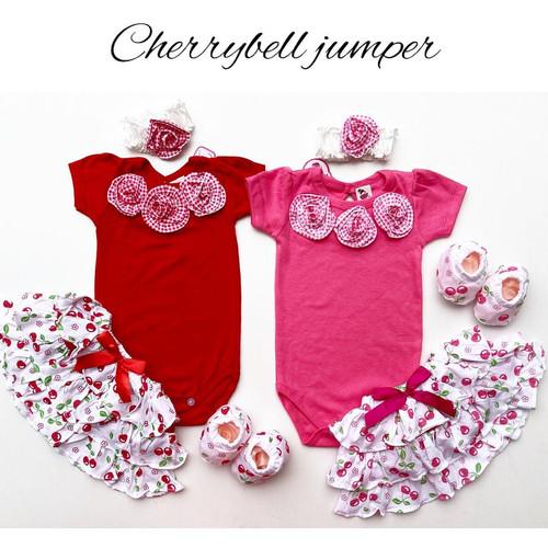 Foto Produk CHERRYBELL JUMPER SET jumper bayi perempuan baju anak babeebabyshop - RED dari babeebabyshop2