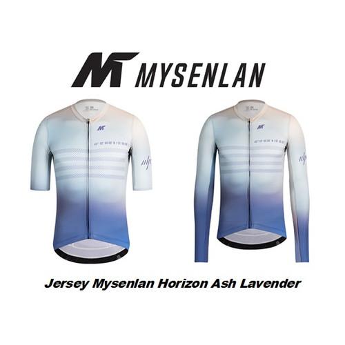 Foto Produk Jersey Mysenlan Horizon Ash Lavender MCQSS002A Men Short Long Sleeve dari FittoBike