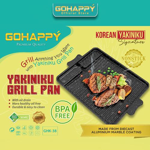 Foto Produk YAKINIKU Double Multi Grill Pan (TEFLON MARBLE ANTI LENGKET) - Yakiniku GHK38 dari UNIKEY