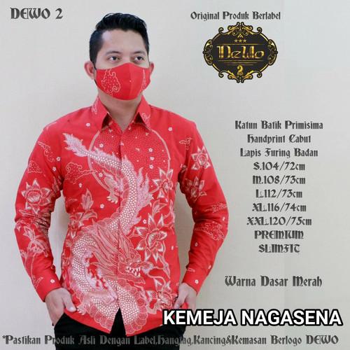 Foto Produk kemeja batik nagasena merah slimfit premium dari Jivan Batik