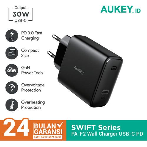 Foto Produk Charger Aukey PA-F2 Swift Series 30W PD Charger - 500481 dari Aukey Makassar